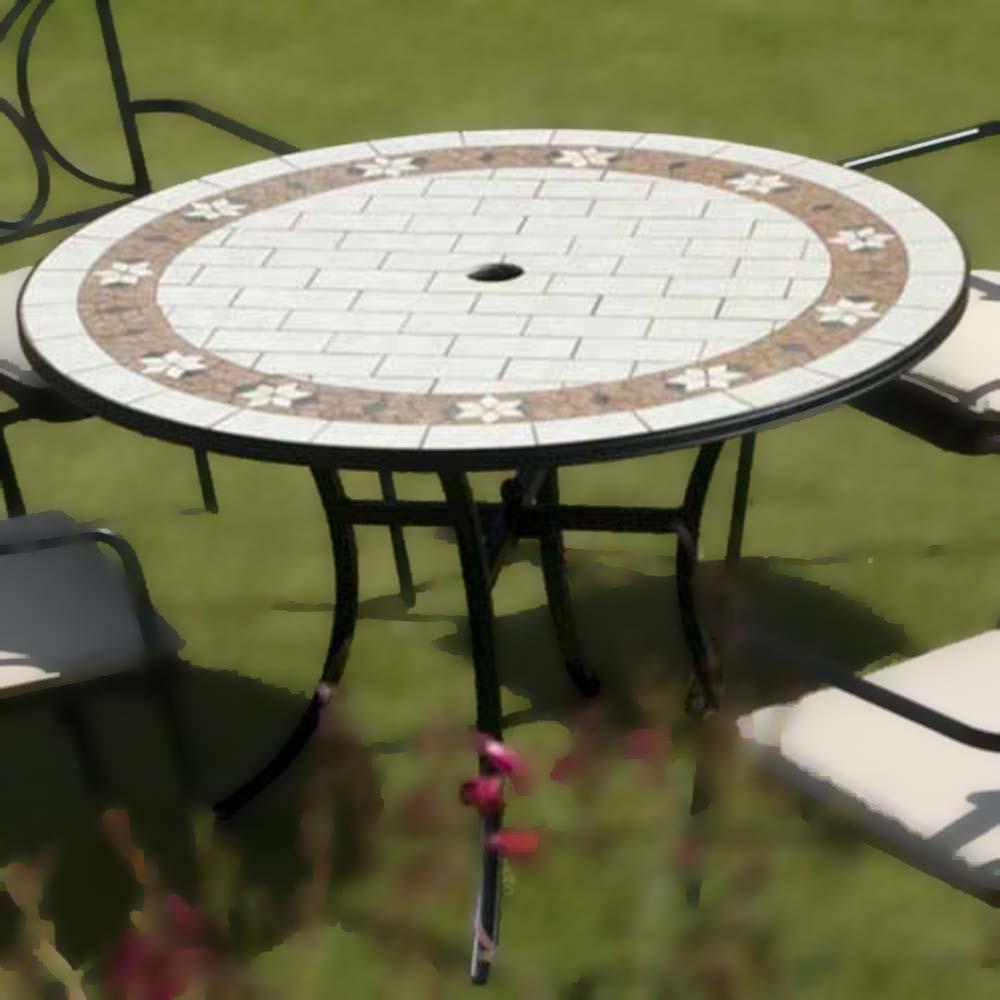 sofia ceramic tile table. Black Bedroom Furniture Sets. Home Design Ideas