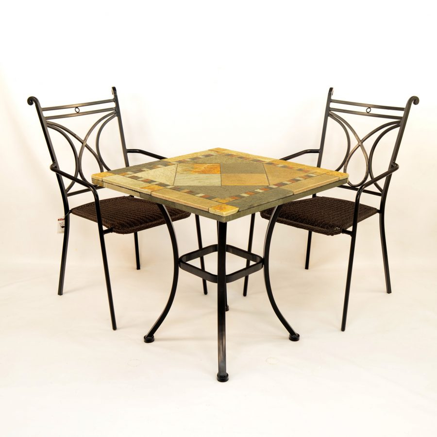 Vinaros table with 2 Treviso chairs