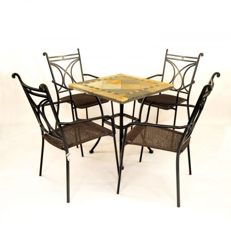 Vinaros table with 4 Treviso chairs