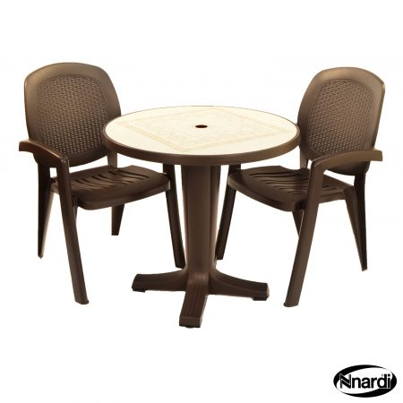 Coffee Marte table with Creta wicker chairs