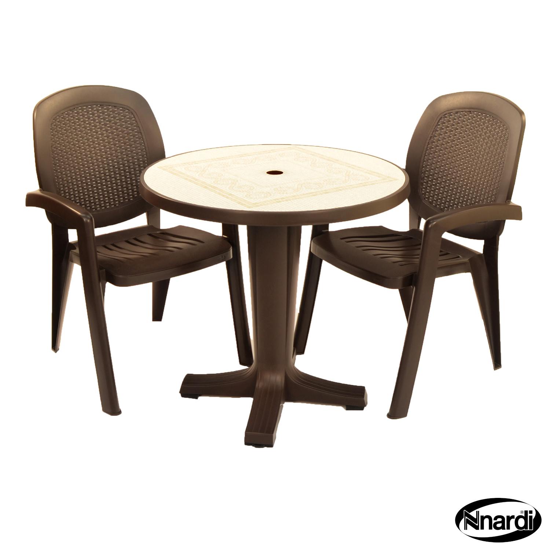 Coffee Marte table with Creta wicker chairs