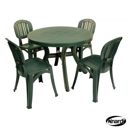 Toscana 100 with Elba chairs in Green