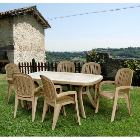 Havanna Toscana 165 Ravenna with 6 Havanna Creta Chairs