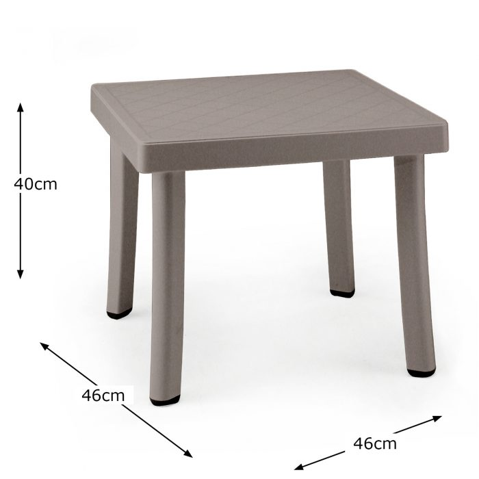 RODI SIDE TABLE TURTLE DOVE DIMENSION MS10