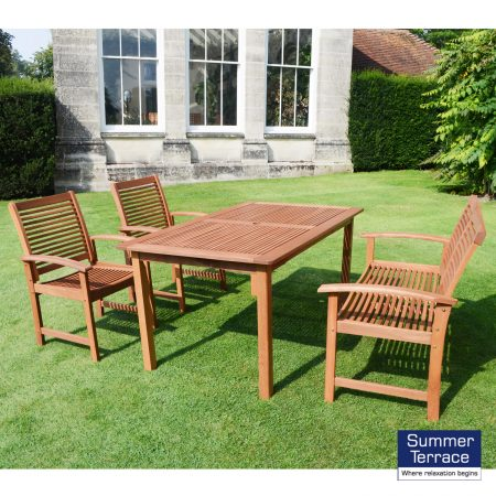 Tornio table with 2 chairs and 1 bench