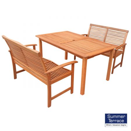 Tornio table with 2 Tornio benches