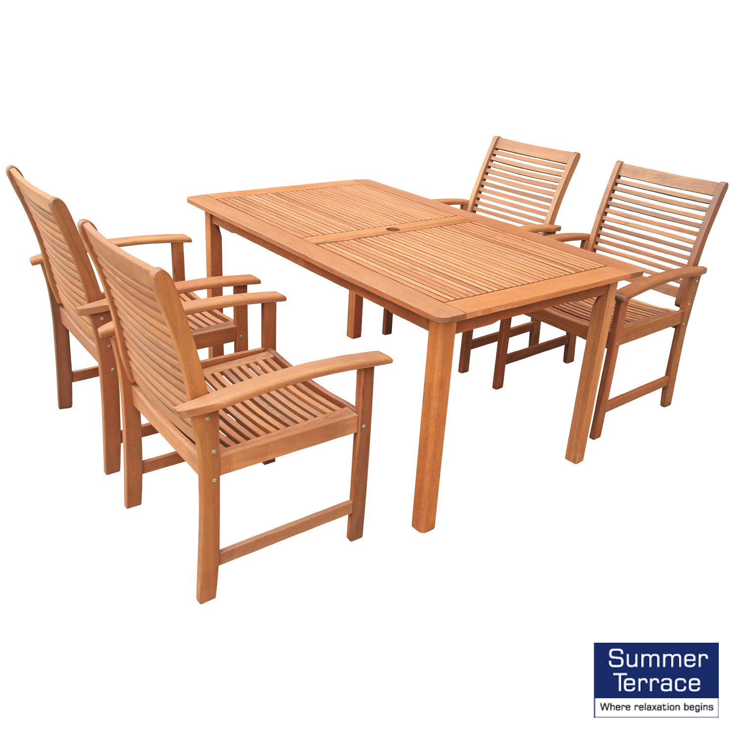 Tornio table with 4 Tornio chairs