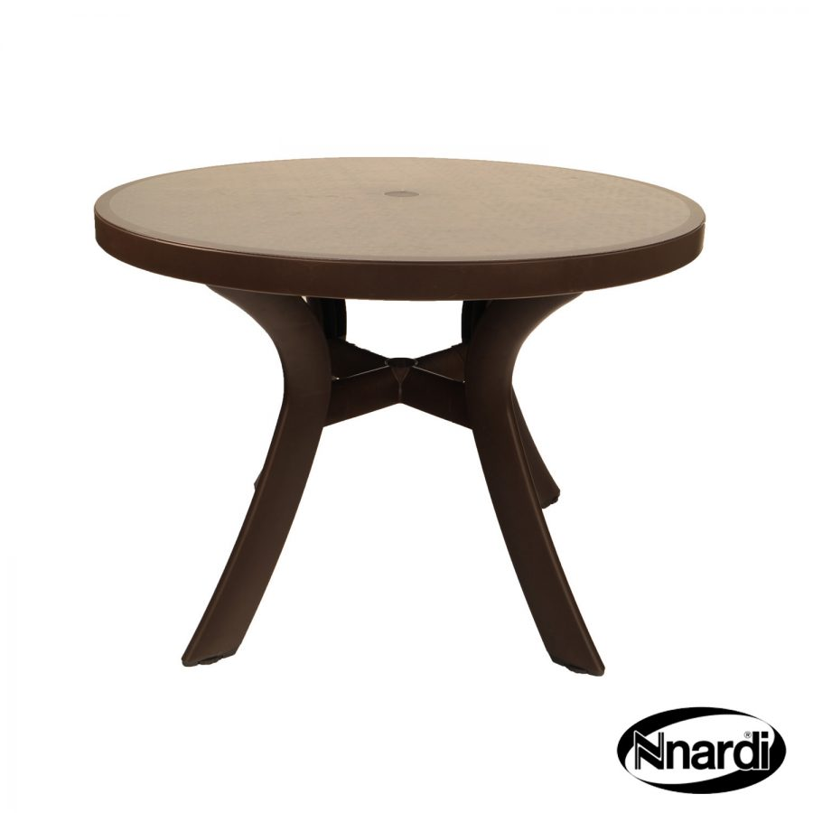 Toscana 100 table with Wicker effect top
