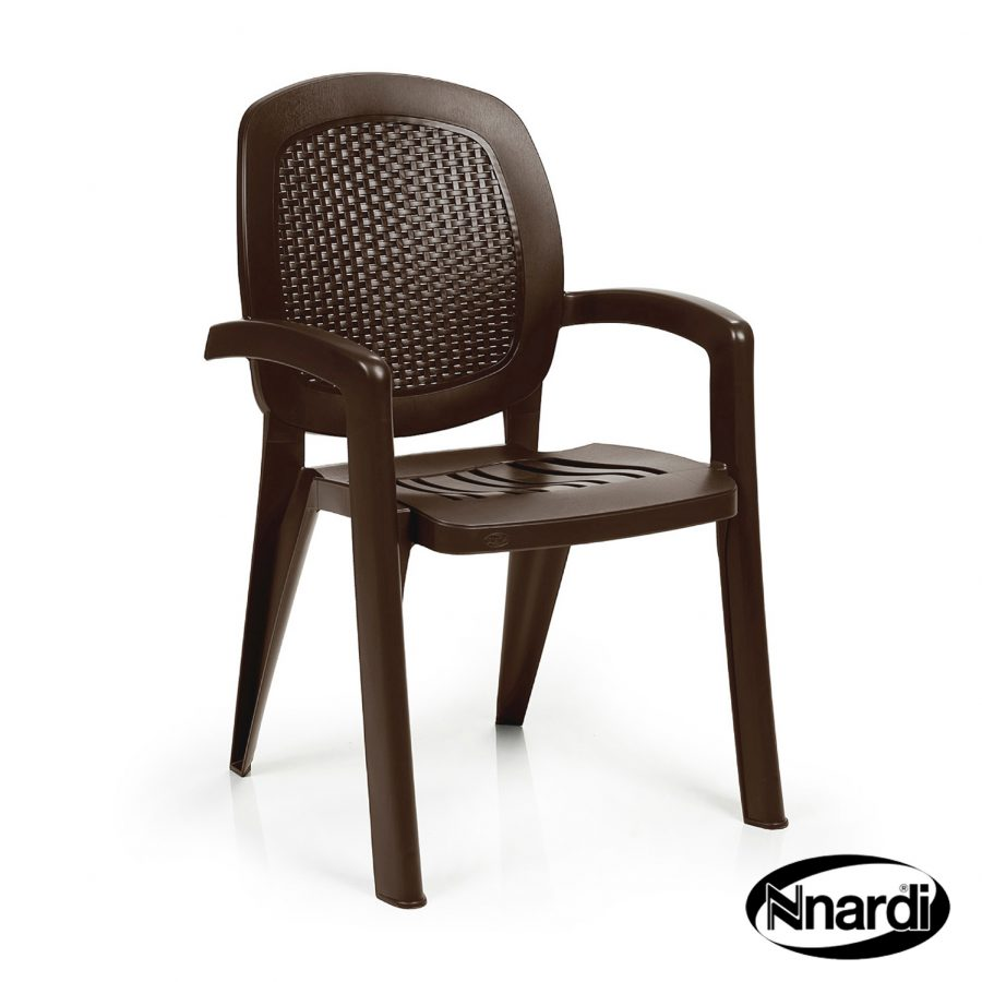 Creta Chair with wicker effect back