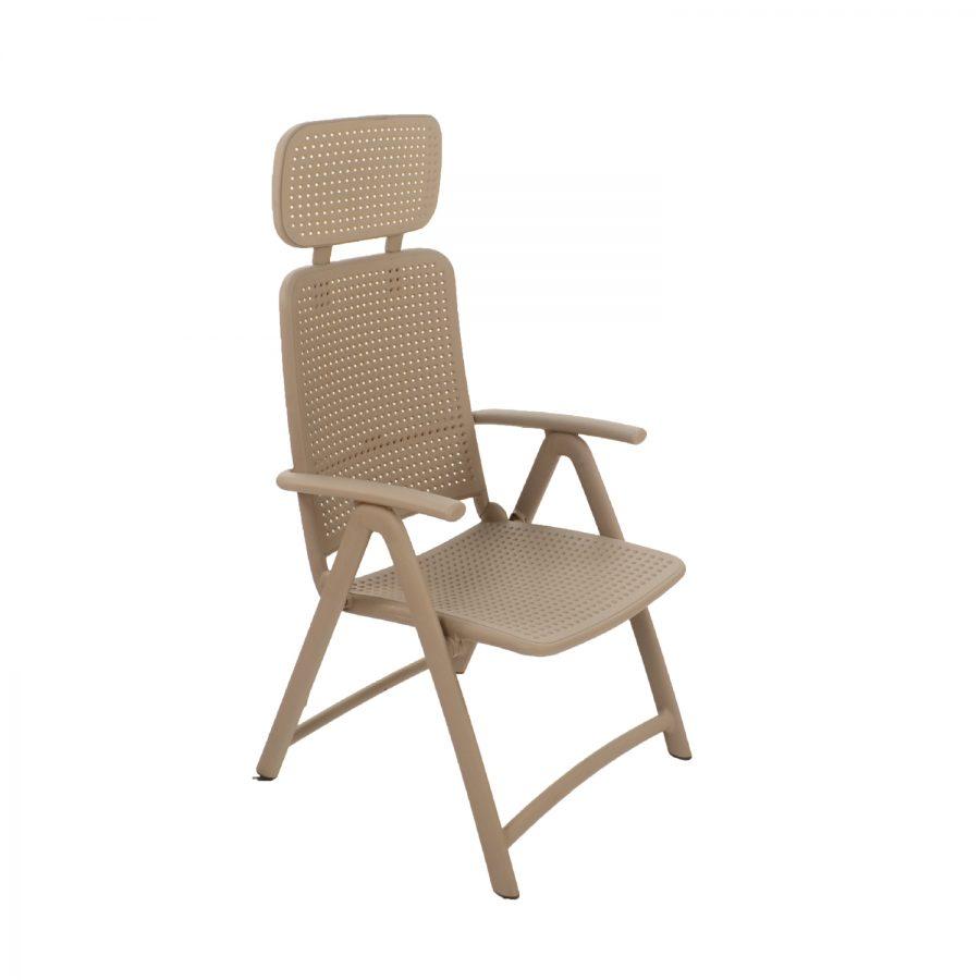 AquaMarina Reclining Chair in Turtle Dove Grey