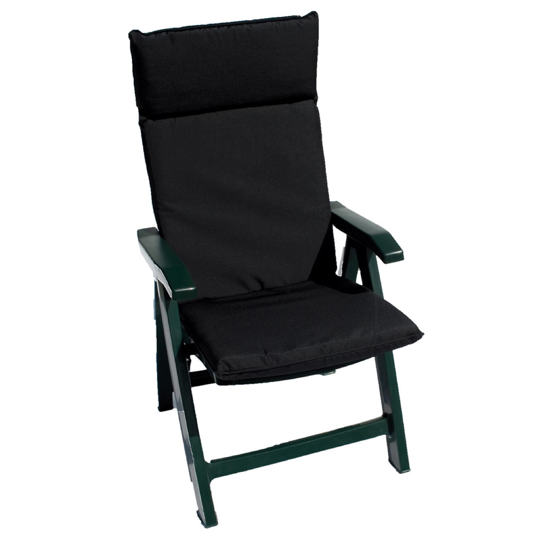 Flora Cushion pack of 2 Black Showerproof Garden Chair
