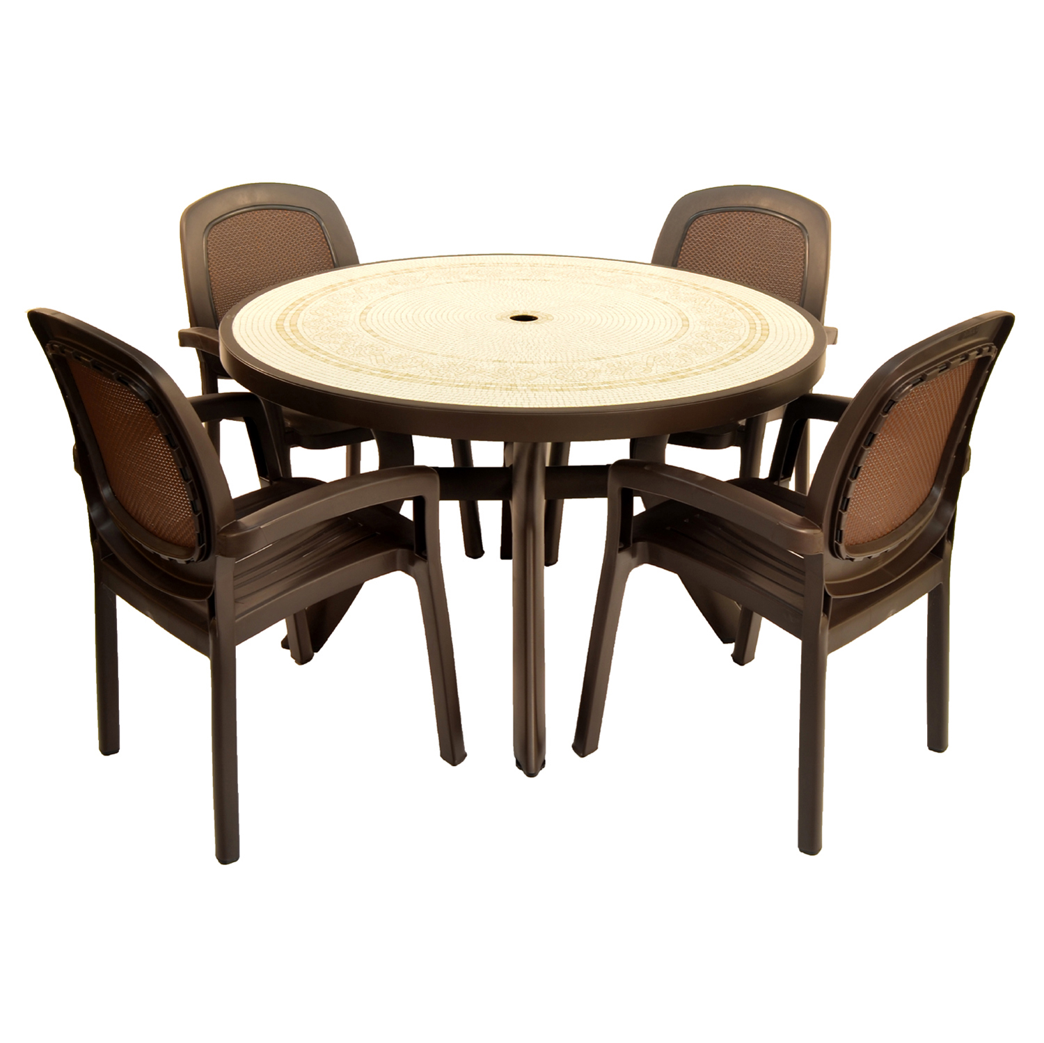 Coffee toscana 120 ravenna with 04 coffee beta chairs for 120 dining table sets