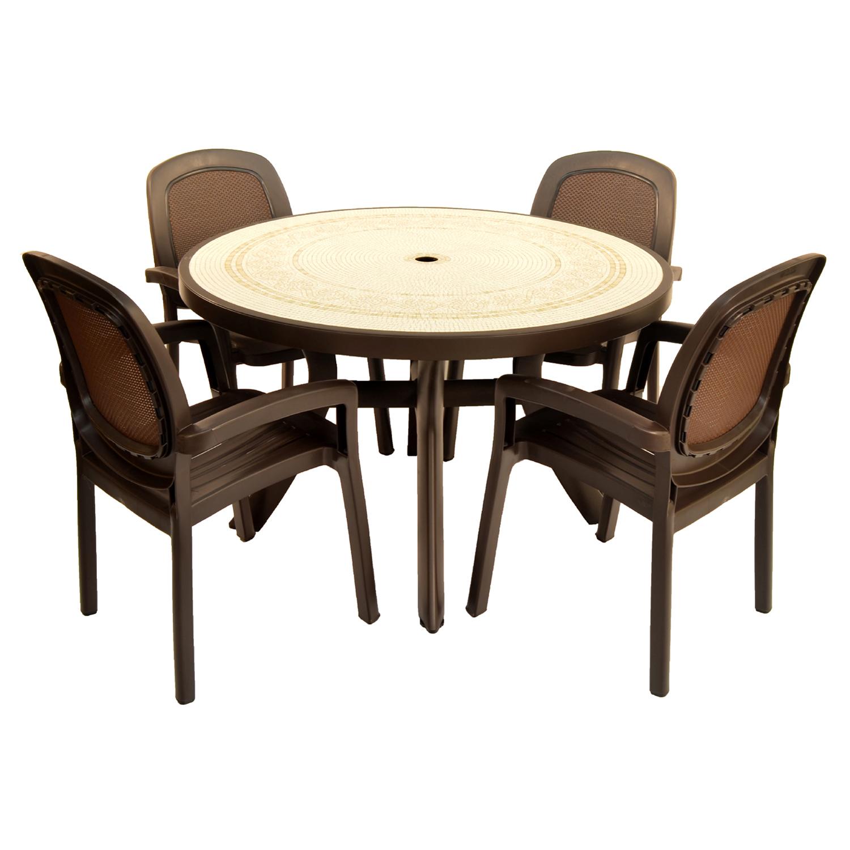 Coffee Table Garden Set: Coffee Toscana 120 Ravenna With 04 Coffee Beta Chairs