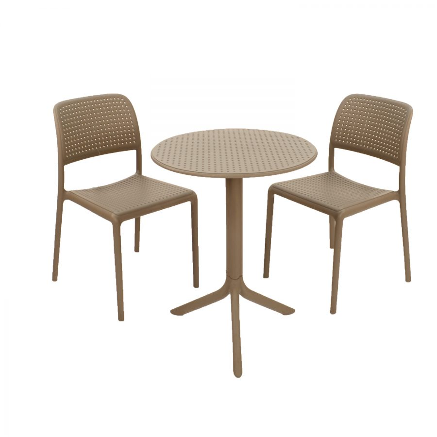 Step Table with Bistrot Chairs - Turtle Dove