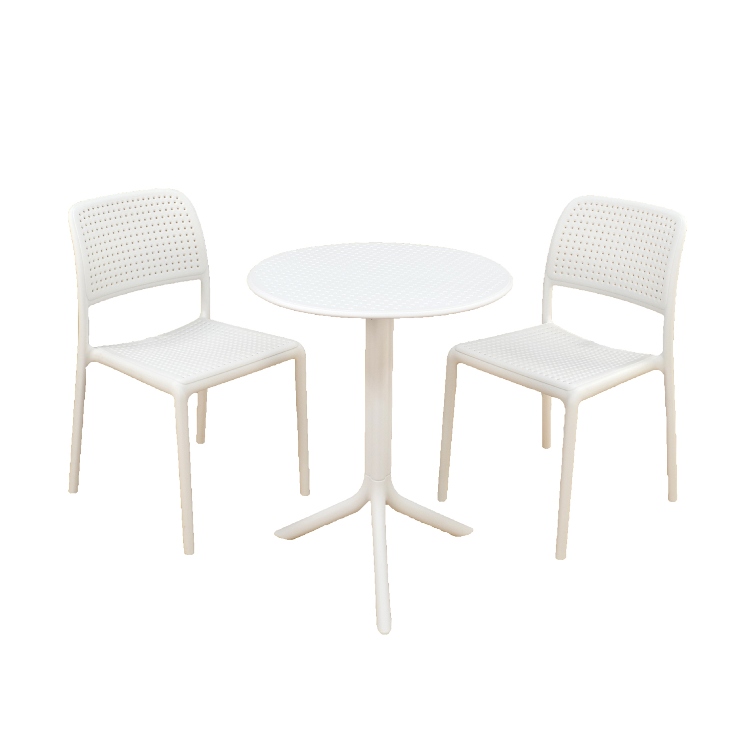 Step Table & Bistrot Chair white