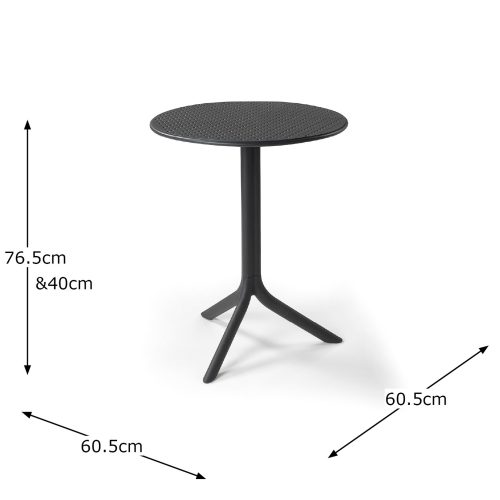 STEP TABLE ANTHRACITE DIMENSION MS1