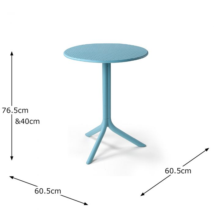 STEP TABLE SKY BLUE DIMENSION MS1