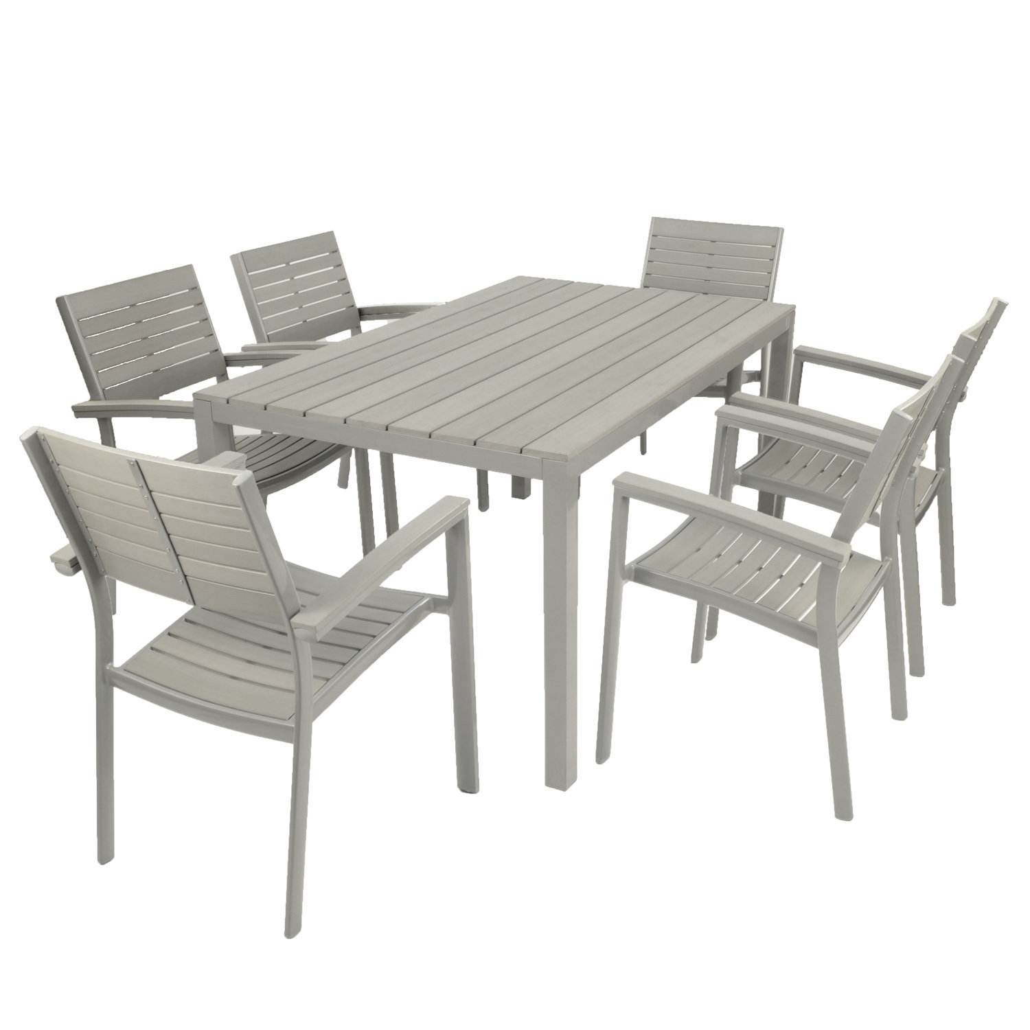 6 Chair Dining Set: Fontello 6 Chair Dining Set