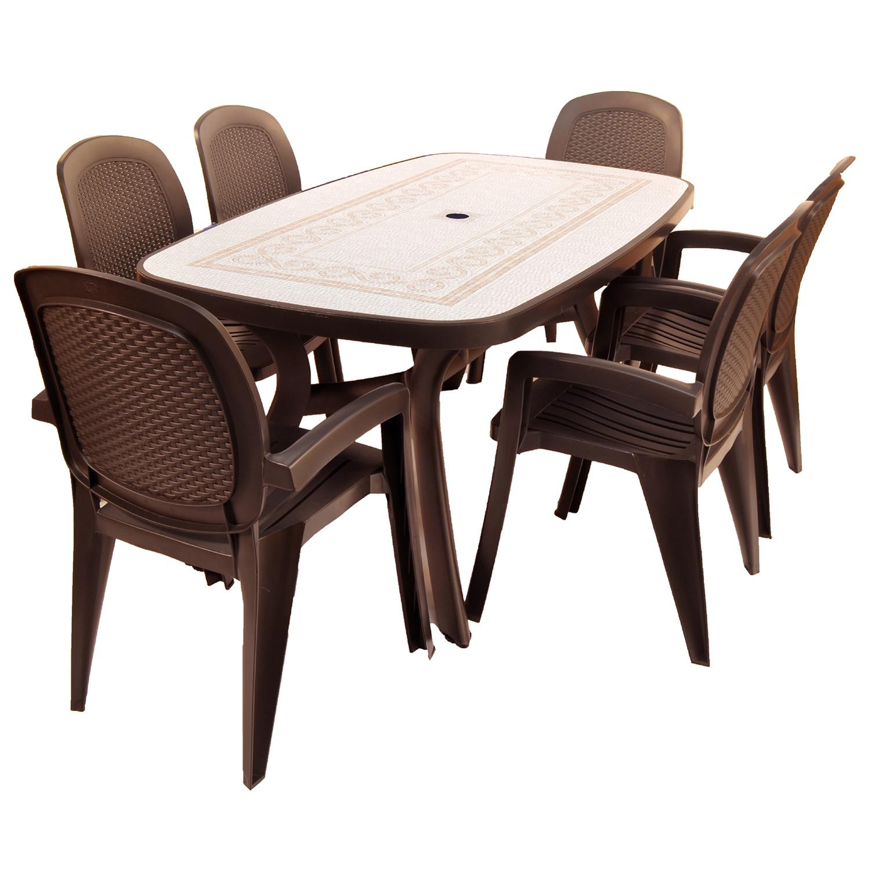 Toscana 165 Coffee with Creta chairs