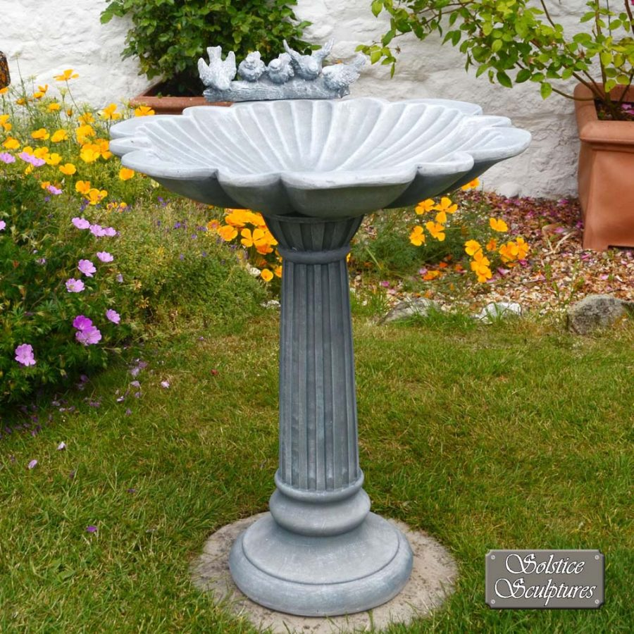 Windemere Birdbath Dark Grey