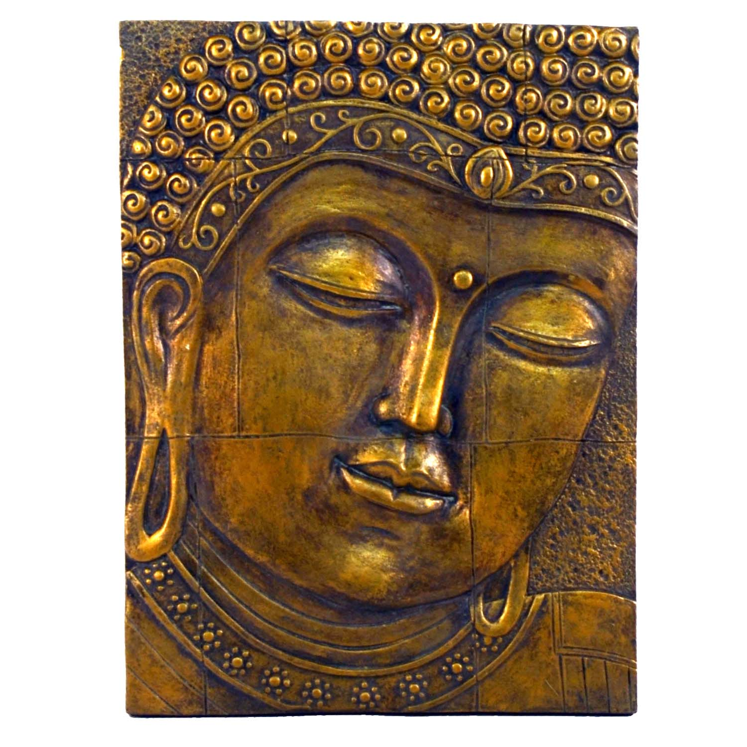 Buddha Plaque - gold effect
