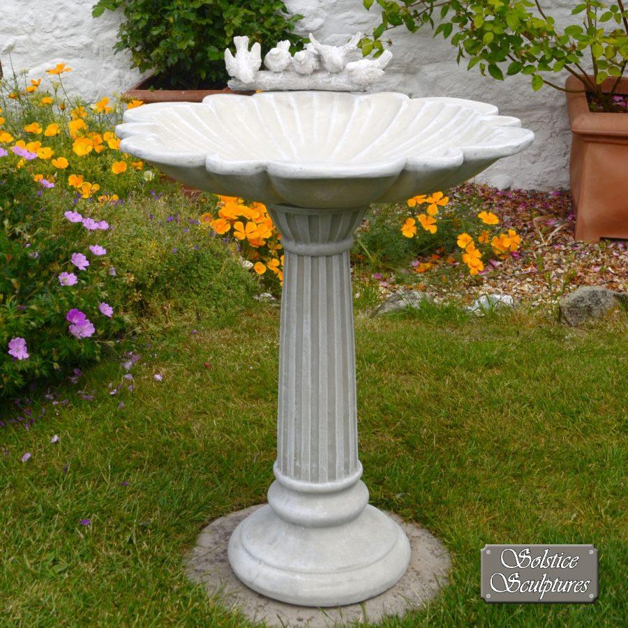 Windemere Birdbath Antique Stone effect