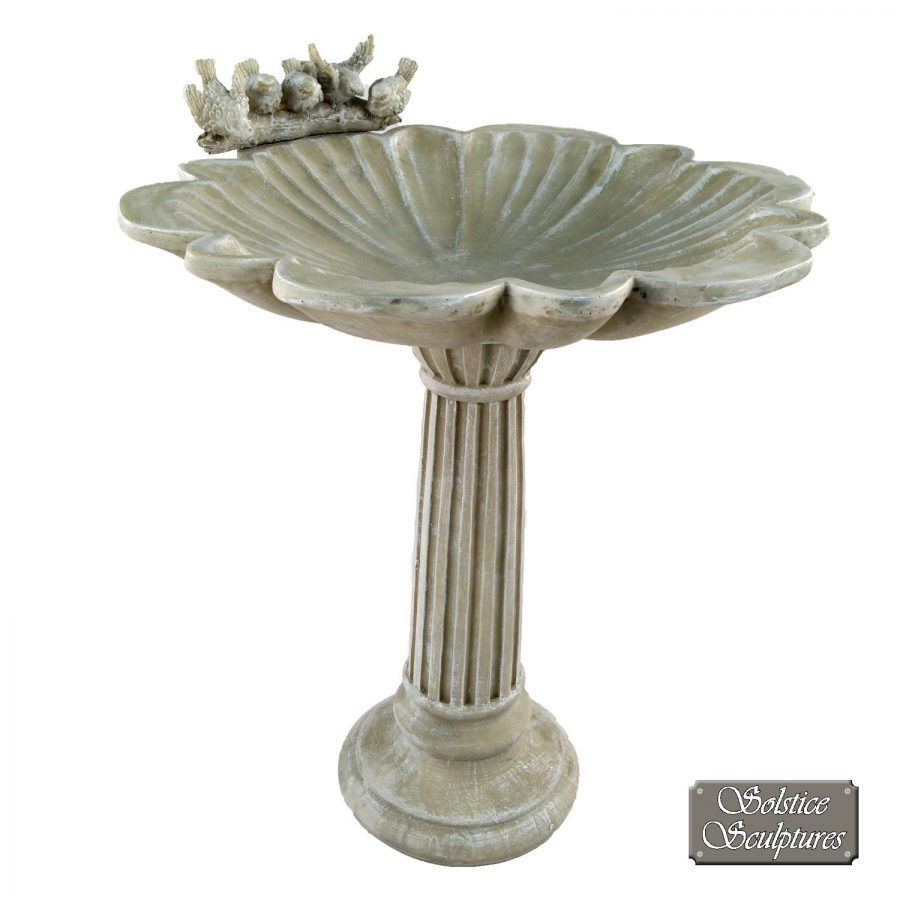 Windemere Birdbath Antique Stone effect