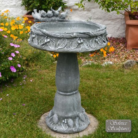 CONISTON Bird Bath Emerald Grey Stone Effect