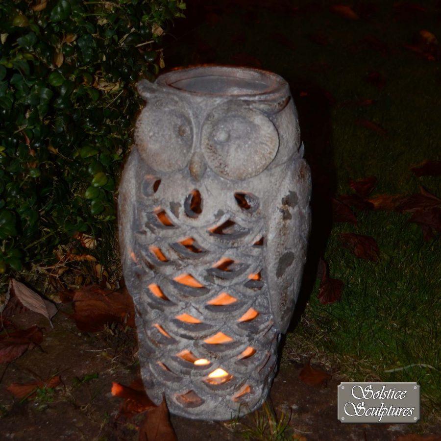 Owl Lantern, dusk