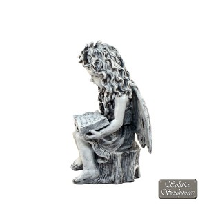 Angel Reading - left