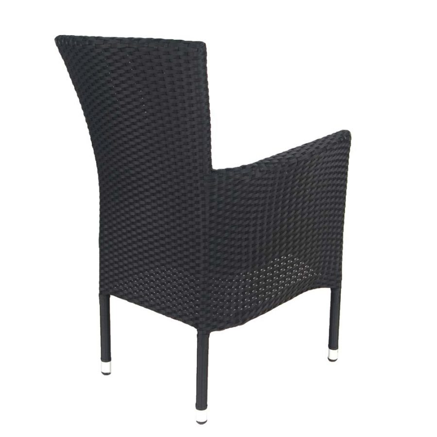 Stockholm chair black - rear