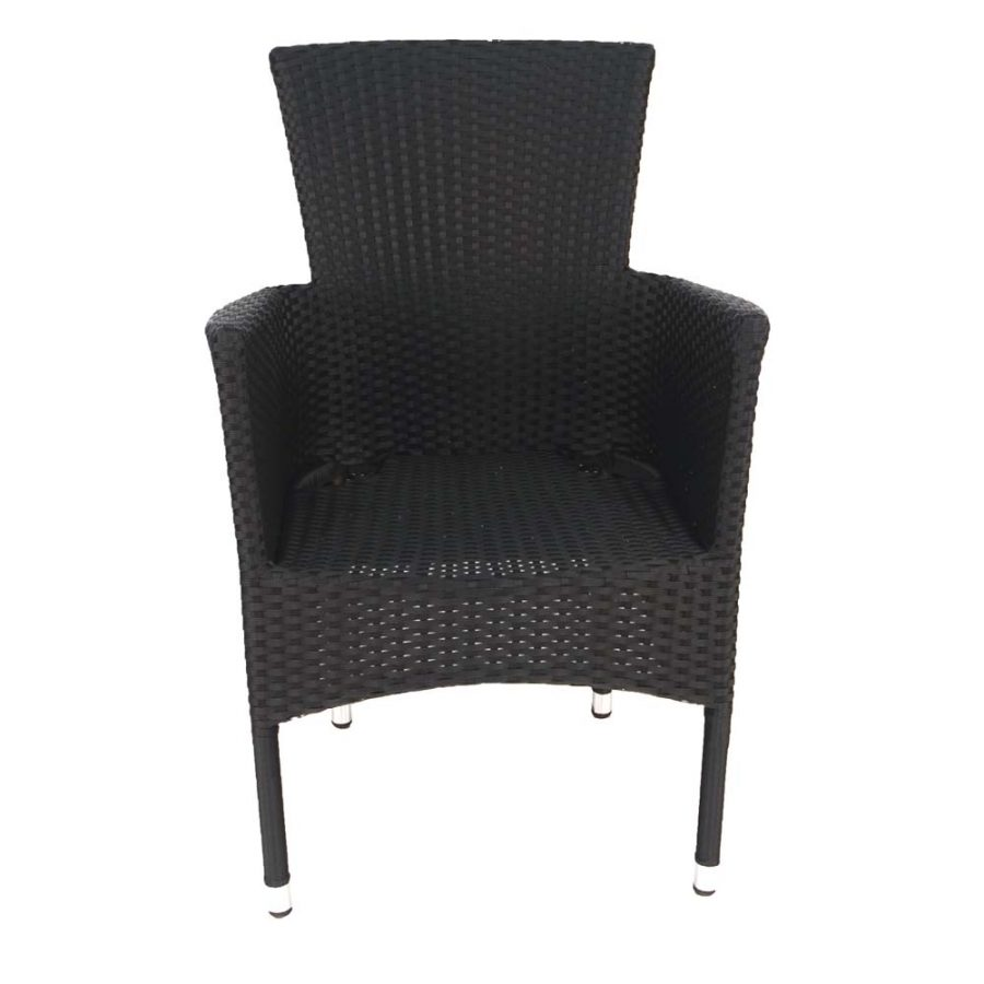 Stockholm chair black - front (without cushion)