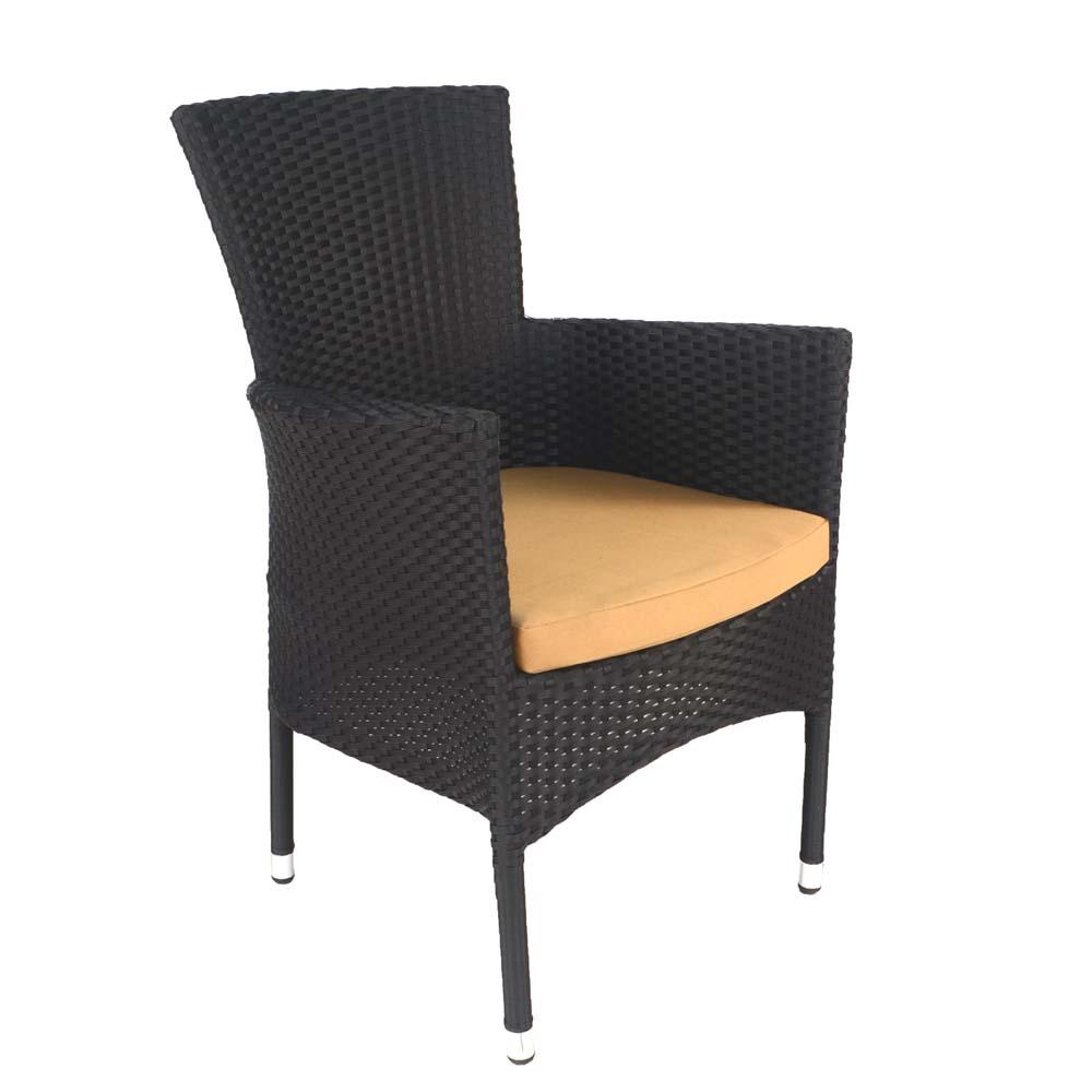 Stockholm chair black - front