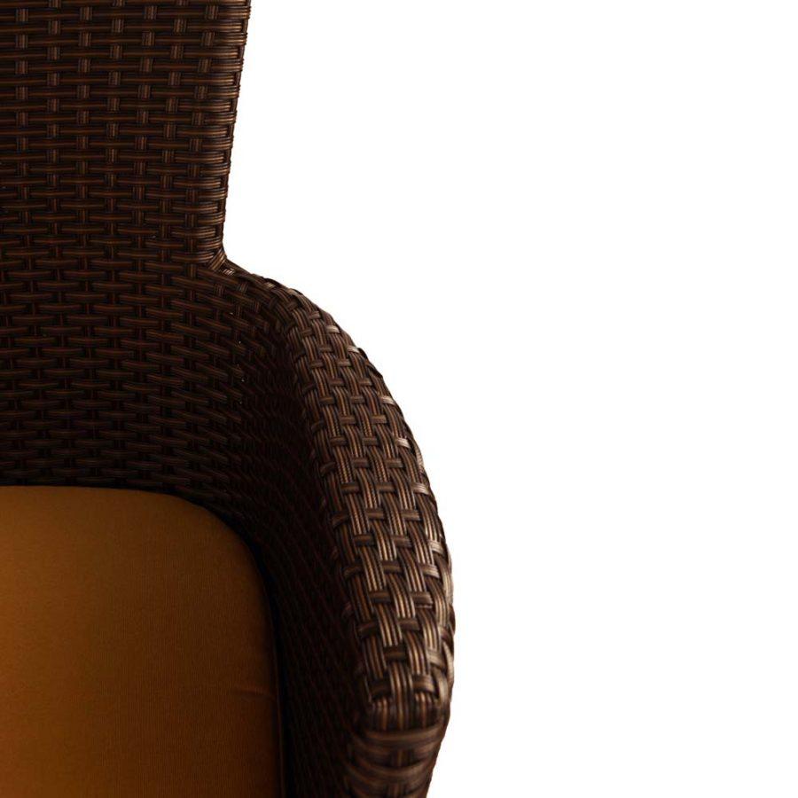 Stockholm chair brown - detail