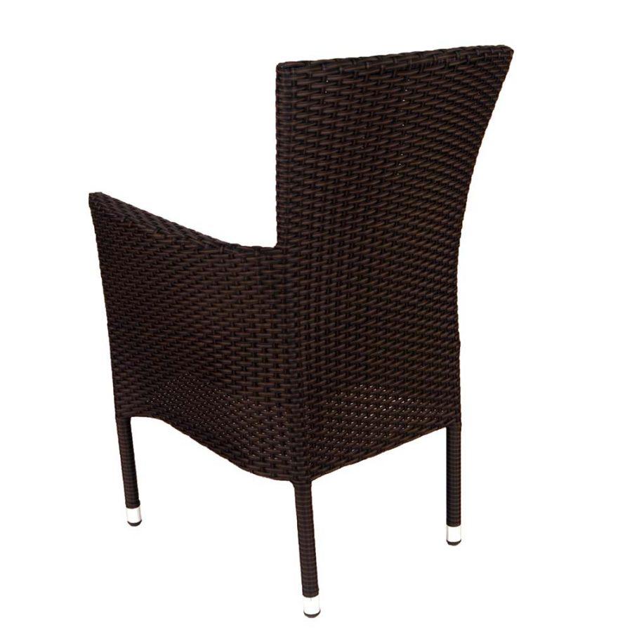 Stockholm chair brown - rear