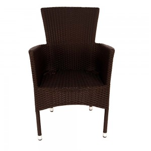 Stockholm chair brown - front (without cushion)