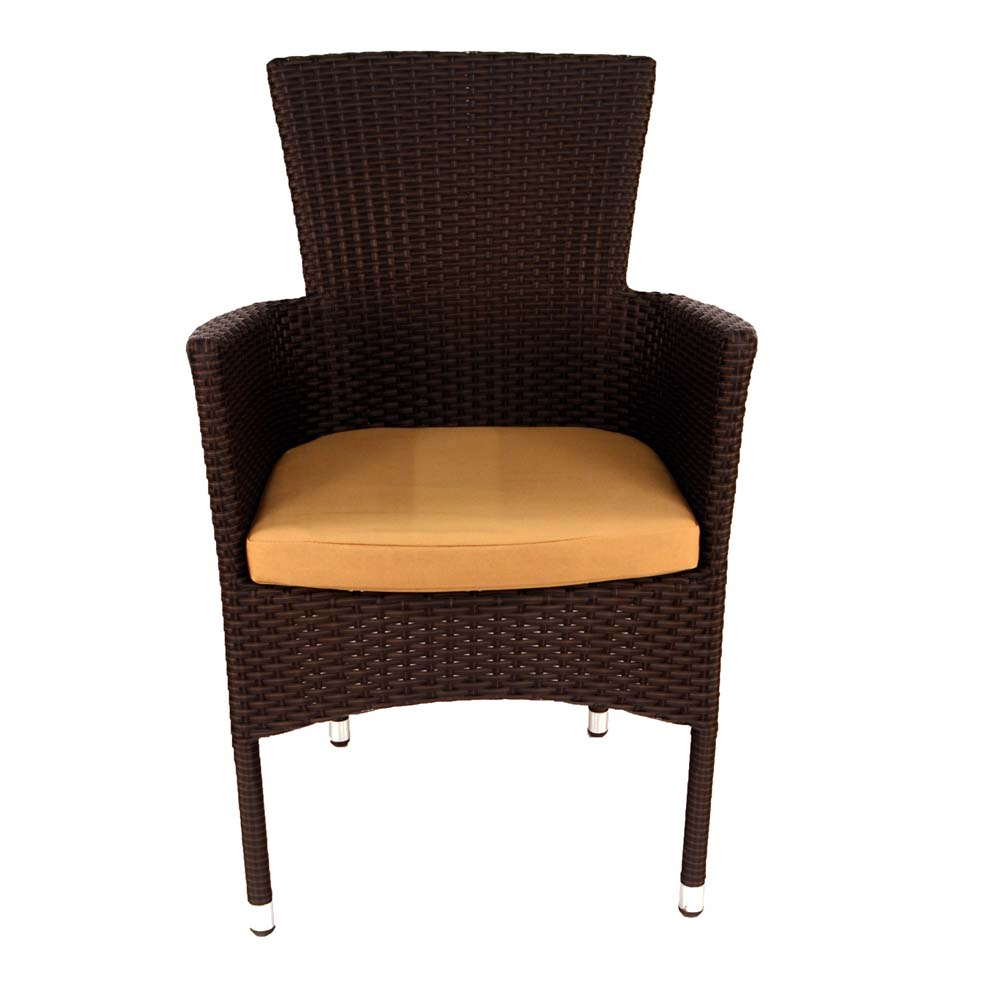 Stockholm chair brown - front