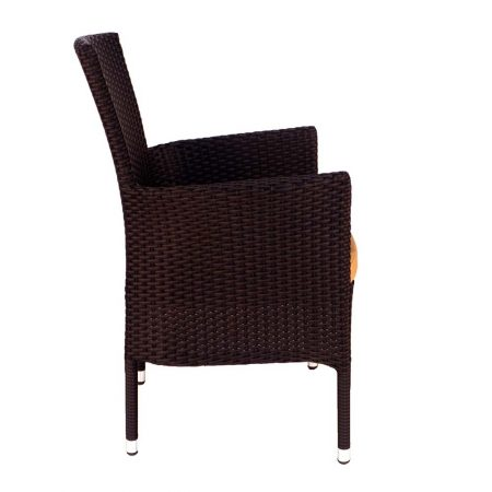 Stockholm chair brown - side