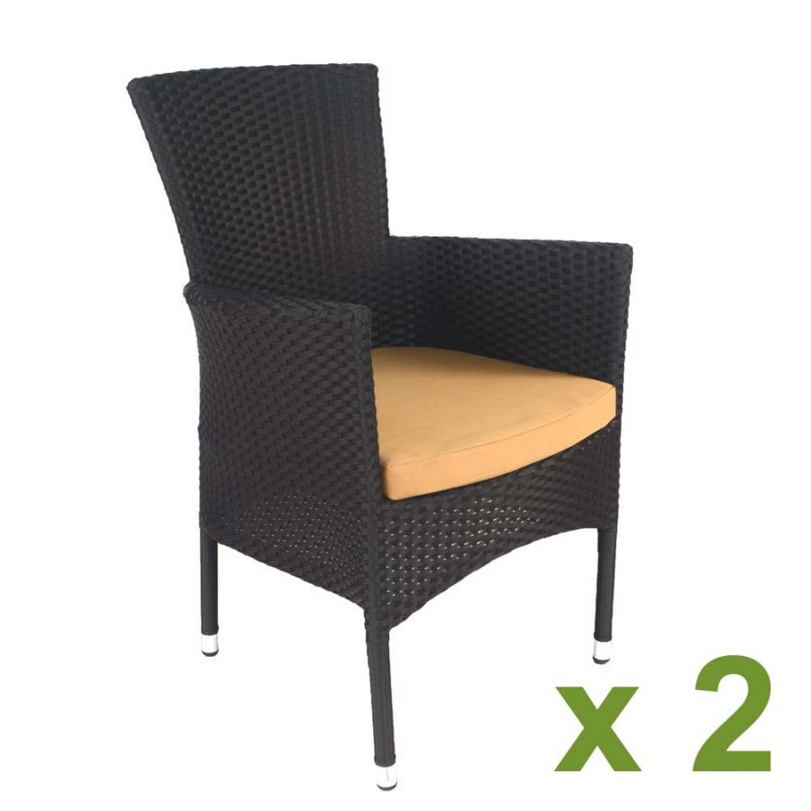 Stockholm black Chair (Pack of 2)