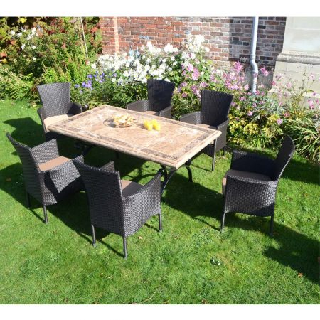 Monte Carlo with 6 brown Stockholm Chairs