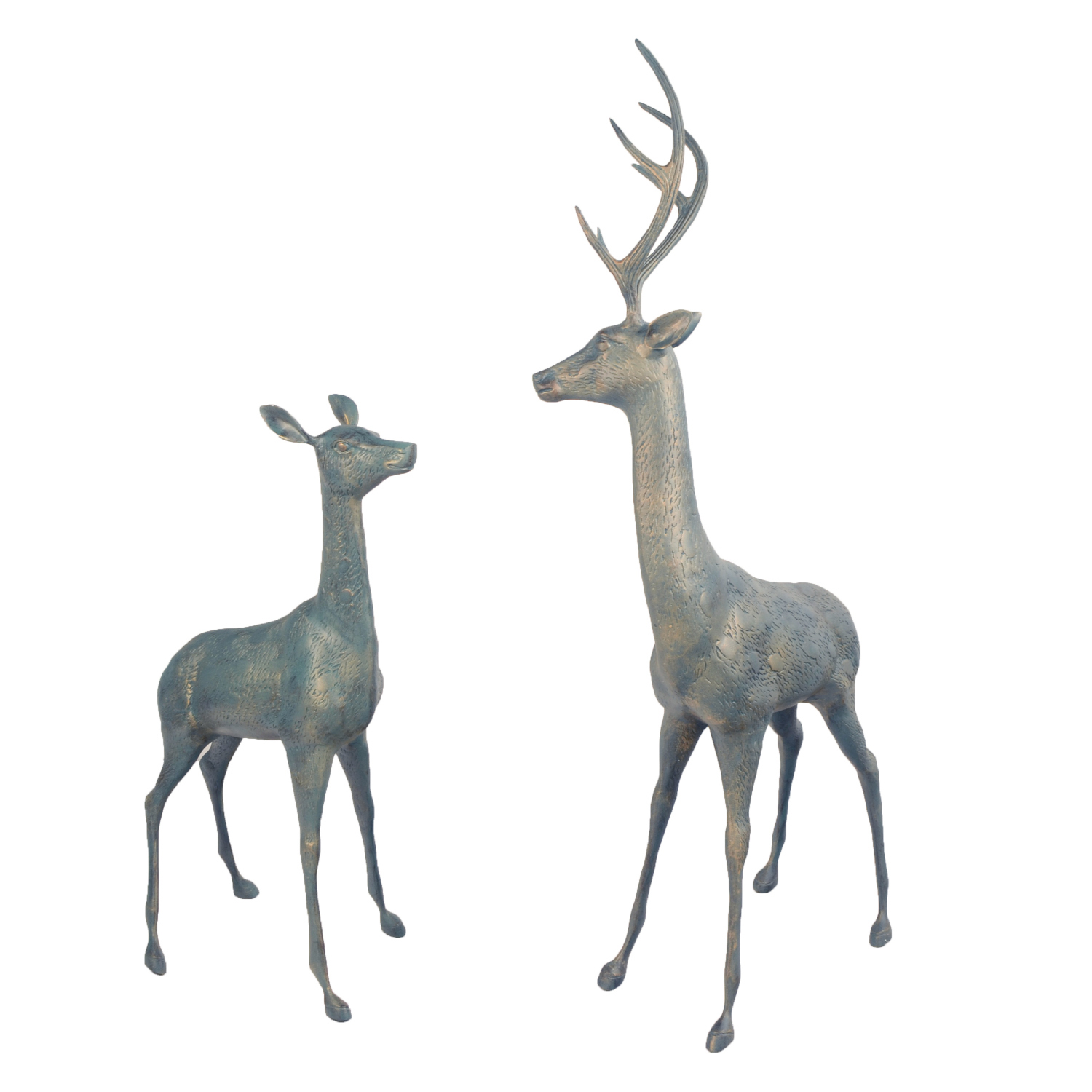 Large deer - Verdigris