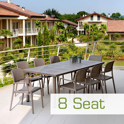 8 seat garden furniture dining set.