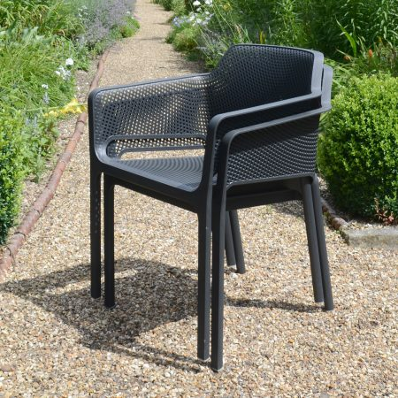 Pair of Net Chair - Anthracite