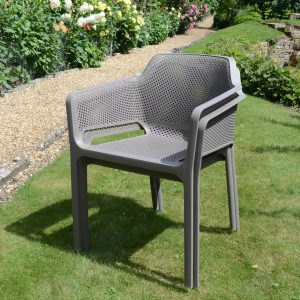 Pair of Net Chair - Turtle Dove Grey