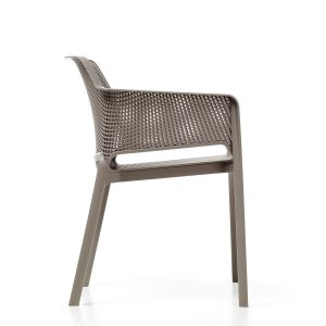 Net Chair - Turtle Dove Grey side