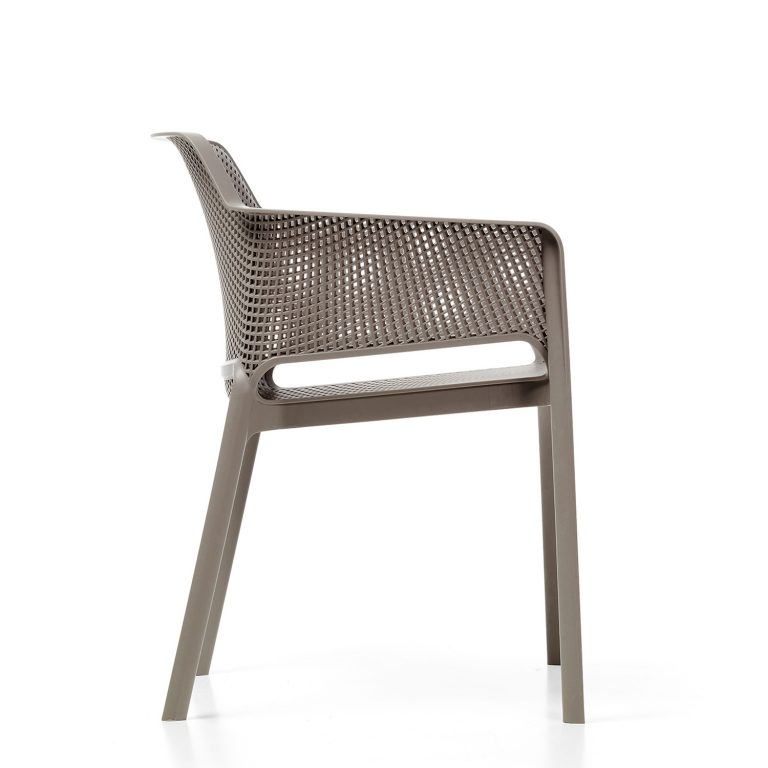 Net Chair - Turtle Dove Grey side