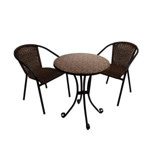 ST-550 Fleuretta bistro table with San Luca chairs