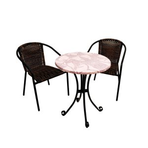 ST-551 Romano Bistro table with San Luca chairs