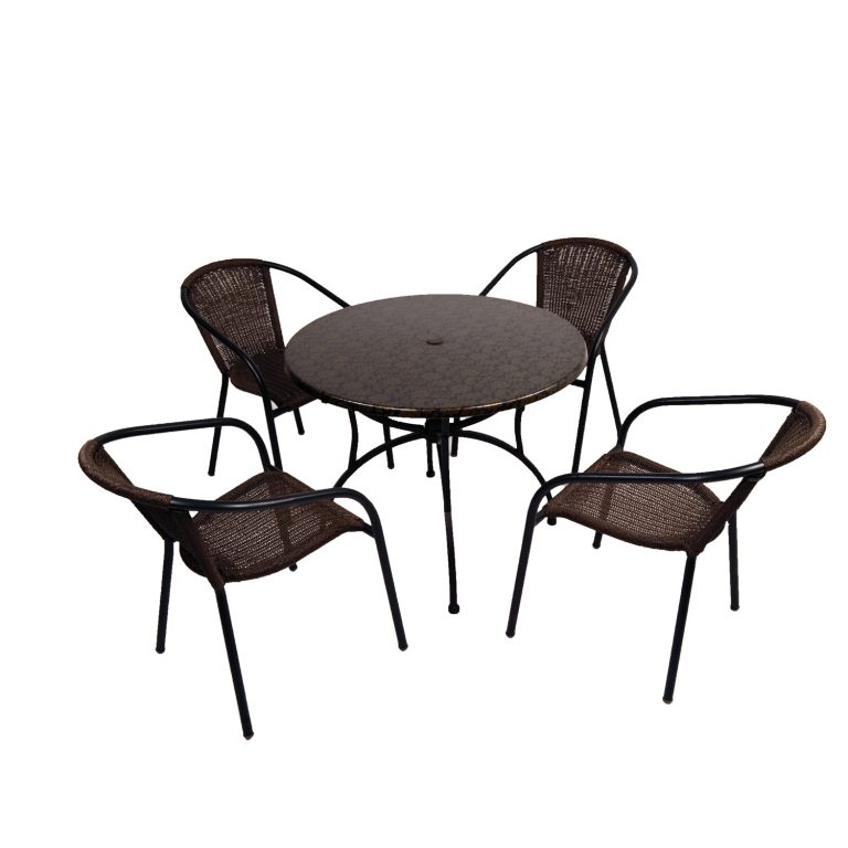 Fleuretta 90 Patio Table with Sam Luca chairs