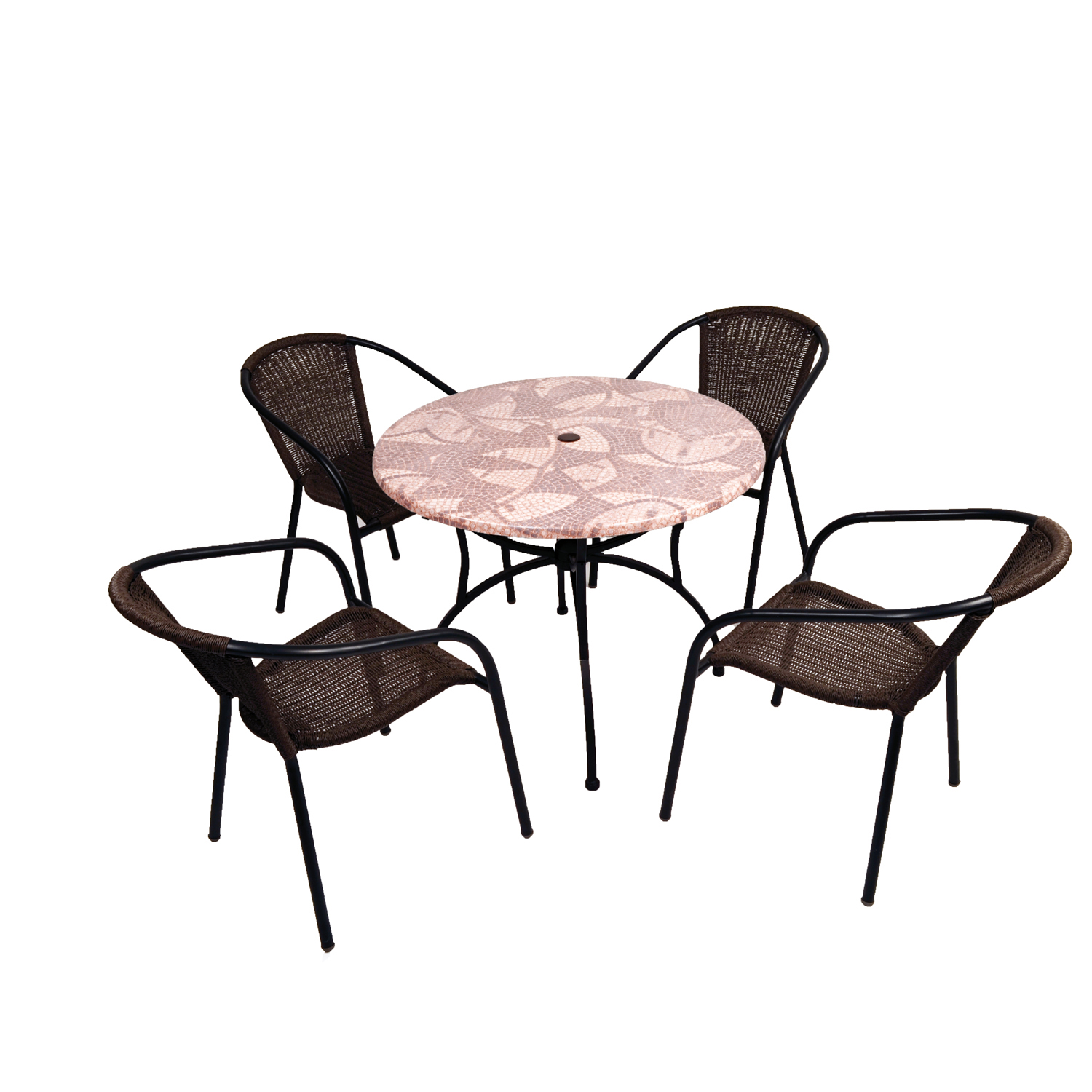 ST-557 Romano 90 Patio table with San Luca chairs